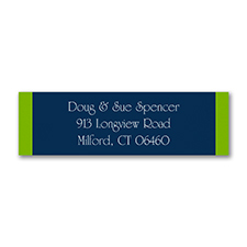 Shaded Stripes - Address Label - Fuchsia